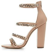 Charlotte Russe Chainlink Strappy Dress Sandals