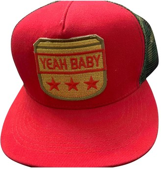 Saint Laurent Red Plastic Hats & pull on hats