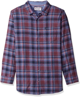 Original Penguin Men's Big Twisted Yarn Flannel