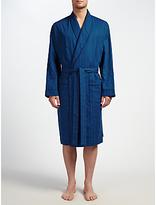 John Lewis Canterbury Satin Cotton Robe, Blue