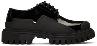 Dolce & Gabbana Black Chunky Sole Oxfords