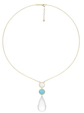 Trifari 14K Gold-Plated Long Pendant Necklace