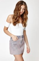PacSun Acid Wash Denim Mini Skirt