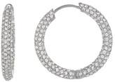 Nadri Crystal Pave Hoop Earrings