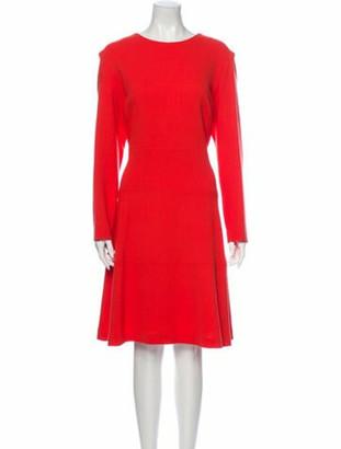 Lela Rose Wool Knee-Length Dress w/ Tags Rose