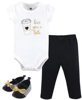 Hudson Baby Bodysuit, Pant & Shoe (Baby Boys)