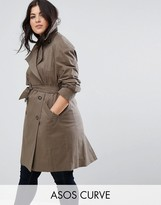 Asos Trench with Deep Storm Flap