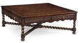 Tudor dark oak Square Distressed Coffee Table Jonathan Charles Fine Furniture
