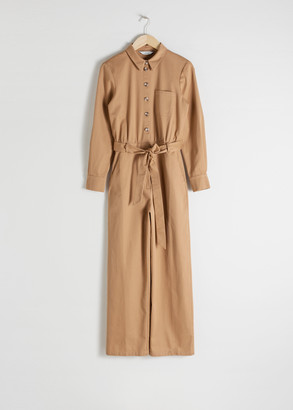 And other stories Belted Cotton Boilersuit