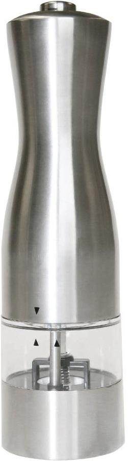 iTouchless EZ Hold Battery-Powered Stainless Steel Pepper/Sea Salt Mill