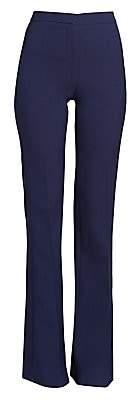 Alexander McQueen Women's Flared Wool & Silk Tuxedo Trousers