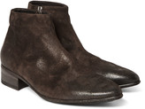 Marsell - Washed-suede Boots