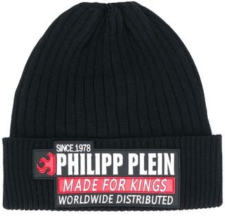 Philipp Plein Logo Patch Beanie