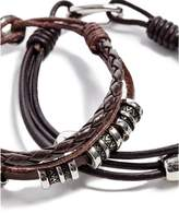 GUESS Men's Leather Bracelet Set
