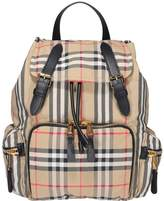Burberry The Rucksack Medium Backpack With Vintage Check Motif