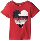 Ikks Short Sleeve T-Shirt Glitter Heart (Toddler/Little Kids/Big Kids)