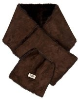 UGG Suede & Shearling Stole