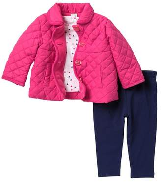Little Me 3-Piece Quilted Jacket Set (Baby Girls)