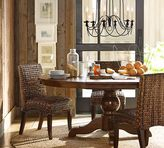 Pottery Barn Sumner Extending Pedestal Table & Seagrass Chair 5-Piece Dining Set