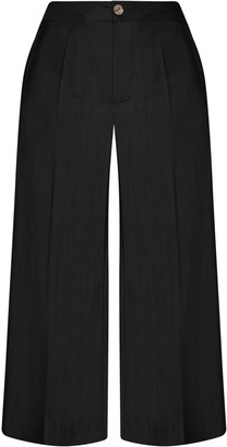 Gisy Iris Black Silk Pants