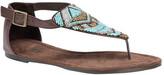 Muk Luks Women's Zena Beaded T Strap Sandal