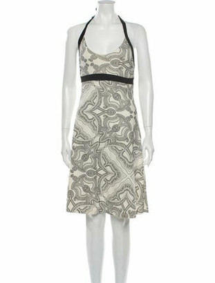 Rick Owens Printed Long Dress Brown