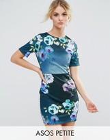 Asos Floral Mini T-Shirt Dress