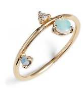 Women's Wwake Counting Collection - Three-Step Balloon Opal & Diamond Ring