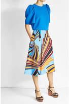 Emilio Pucci Printed Cotton Maxi Skirt