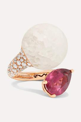 de Grisogono Boule 18-karat Rose Gold Multi-stone Ring