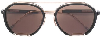 Thom Browne Eyewear Metal Frame Detail Sunglasses