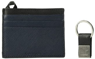 Calvin Klein Saffiano Card Case w/ Key Fob