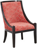 Asstd National Brand Annabell Coral and Black Accent Chair