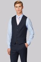 Hardy Amies Tailored Fit Navy Birdseye Waistcoat