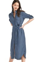 Gap Tencel® stripe midi shirtdress