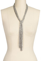 Saachi Silver Statement Scarf Necklace
