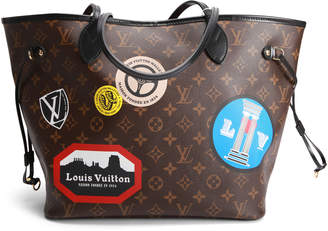 Louis Vuitton Neverfull Monogram World Tour (Without Pouch) MM Cerise Lining