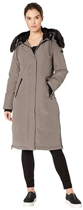 Sam Edelman Maxi Parka (Light Grey) Women's Coat