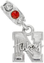 Dayna U Nebraska Cornhuskers Crystal Sterling Silver Logo Charm