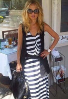 Otis & Maclain X-Long Boy Tank Dress in Black/White - as seen on Rachel Zoe