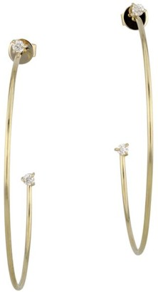 Phillips House Enchanted 14 Yellow Gold & Diamond Top And Tail Hoop Earrings