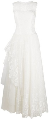 Alberta Ferretti Lace Floor-Length Dress