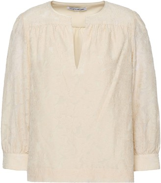 Elizabeth and James Silk And Cotton-blend Fil Coupe Top