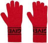 Givenchy logo knit gloves - women - Wool - XS