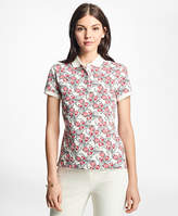 Brooks Brothers Slim-Fit Tulip-Print Stretch-Cotton Pique Polo