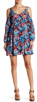 Romeo & Juliet Couture Floral Print Cold Shoulder Dress