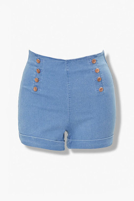 Forever 21 Plus Size Cuffed Denim Shorts