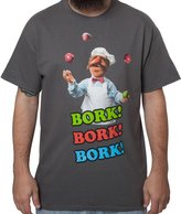Mighty Fine Men's Muppets Swedish Chef Shirt Charcoal