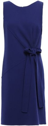 Oscar de la Renta Bow-detailed Wool-blend Crepe Dress