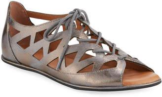 Gentle Souls Betsi Cutout Leather Walking Sandals